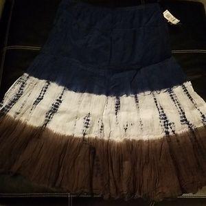 Style & Co. Tie Dye Hippie Skirt Sz 2X